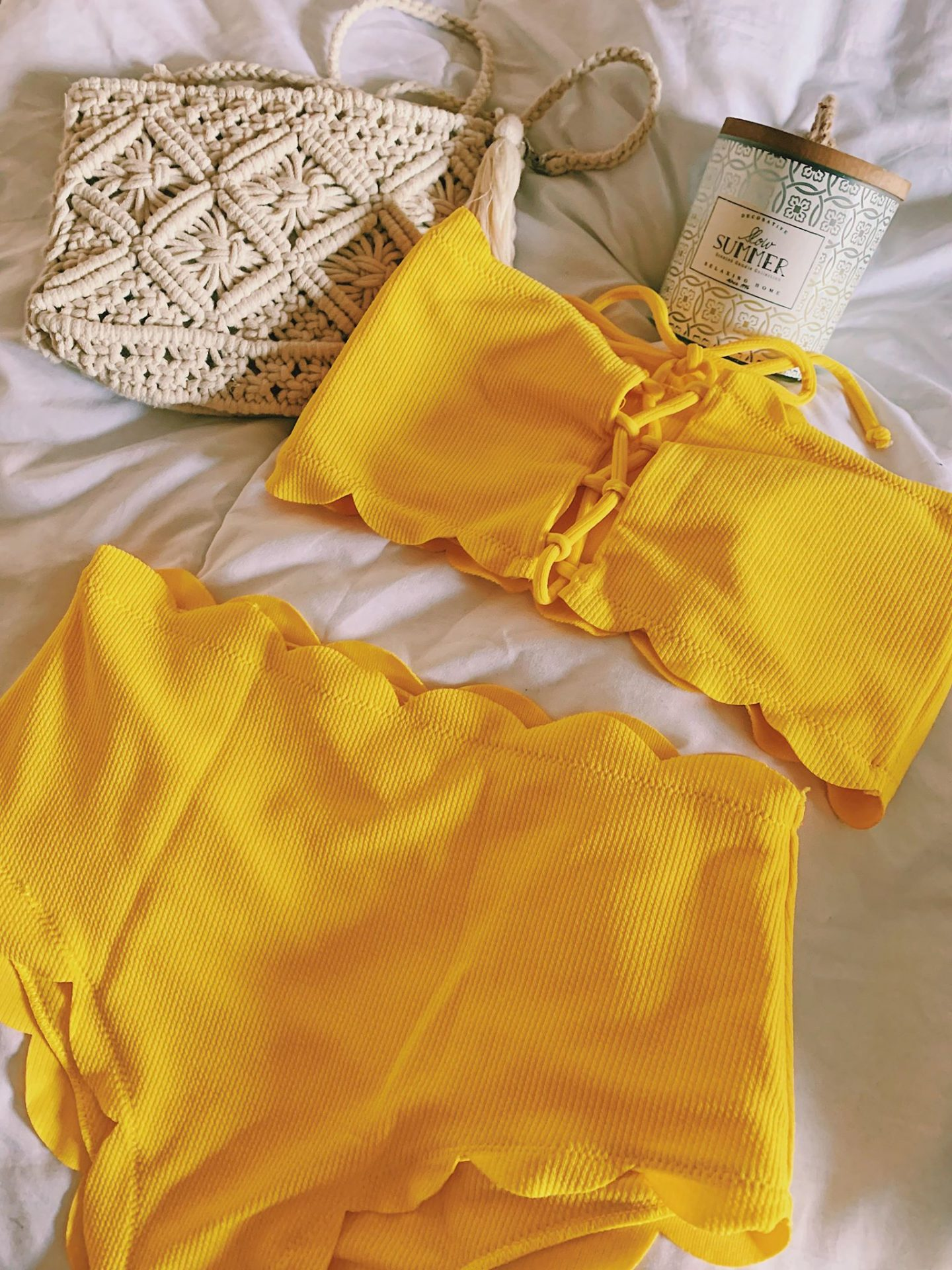 Maillot jaune bandeau SheIn
