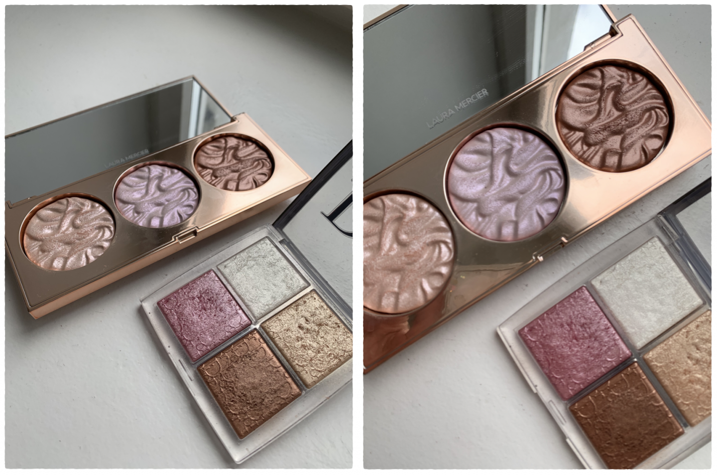 LA LIGHT RADIANT FACE ILLUMINATOR TRIO DE LAURA MERCIER GLOW FACE PALETTE DIOR