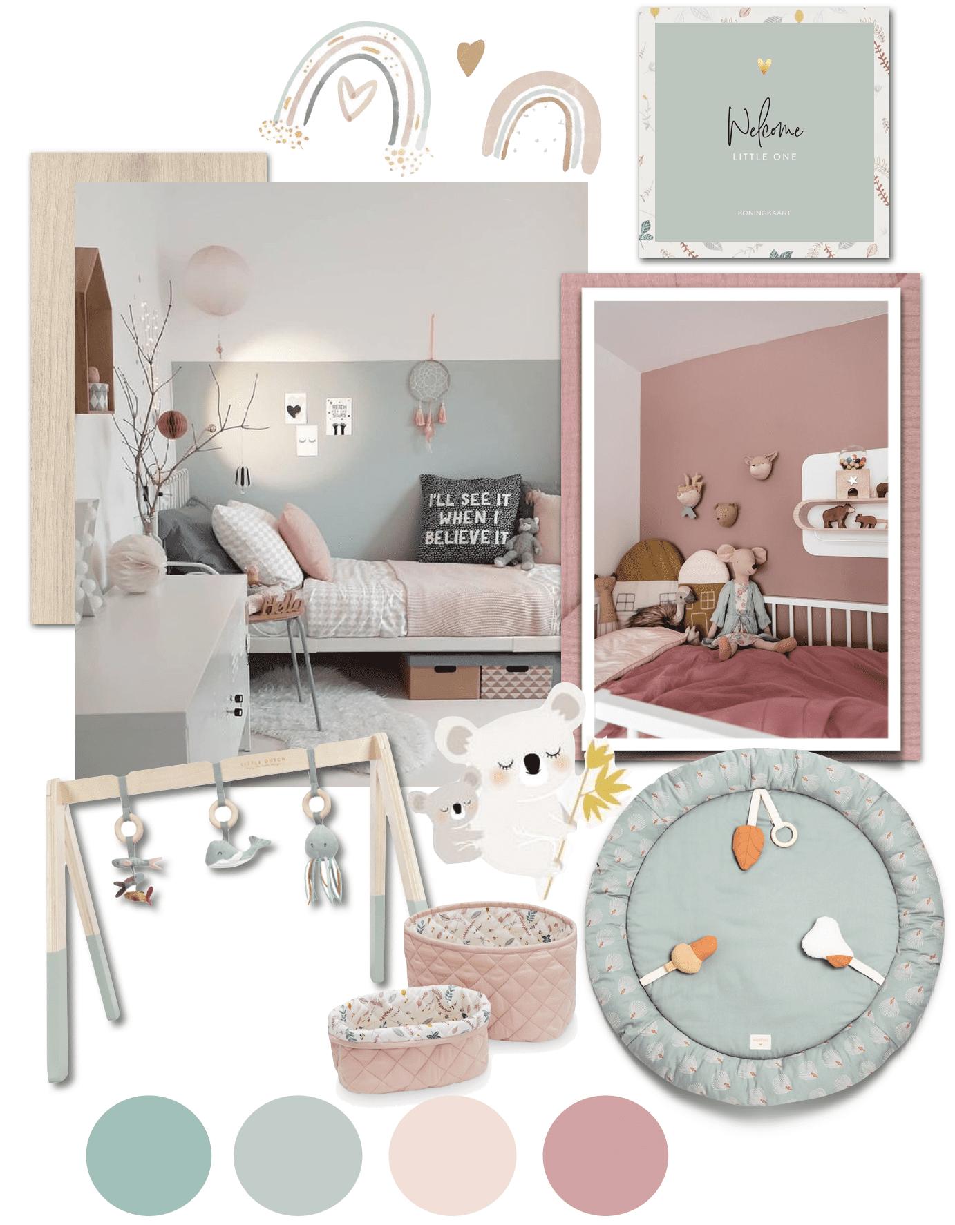 mood board décoration chambre bébé